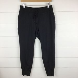 Athleta M Flux Jogger Pant Black Yoga Pant Pockets